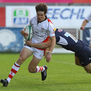 Adam D'Arcy in action for Ulster against Leeds