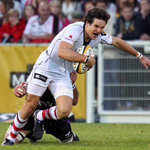 Adam D'Arcy in action for Ulster against the Ospreys