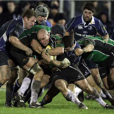 Adrian Flavin holds onto possession for Connacht against Leinster
