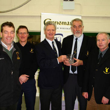 Creggs RFC's Adrian Leddy is pictured receiving his special recognition award