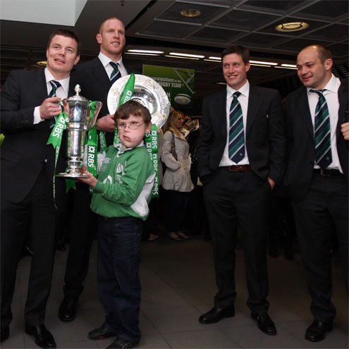 Photos of the Ireland Grand Slam-winning squad's arrival back in Dublin