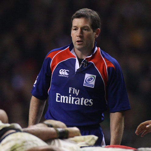 Irish referee Alain Rolland in charge of a recent Six Nations match