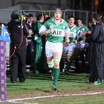 Alan Maher leads the Ireland Club side out at Donnybrook