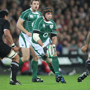 Alan Quinlan in action during his last game for Ireland