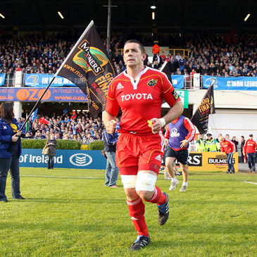 Alan Quinlan running out for last season's Magners League semi-final