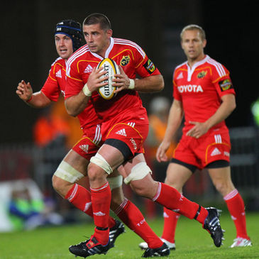 Alan Quinlan in action for Munster