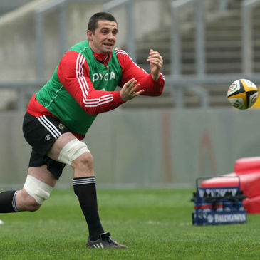 Alan Quinlan is pictured during a Munster training session