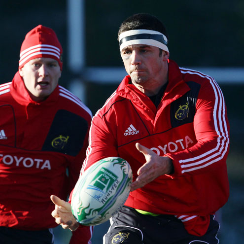 Munster Squad Training At Dooradoyle, Garryowen FC, Wednesday, December 8, 2010