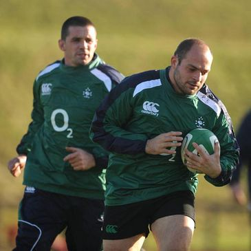 Alan Quinlan and Rory Best