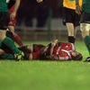 Munster flanker Alan Quinlan had his evening prematurely ended by a dislocated elbow