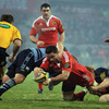In the 47th minute, after a fluid attack from Munster, flanker Alan Quinlan broke through for a crucial try