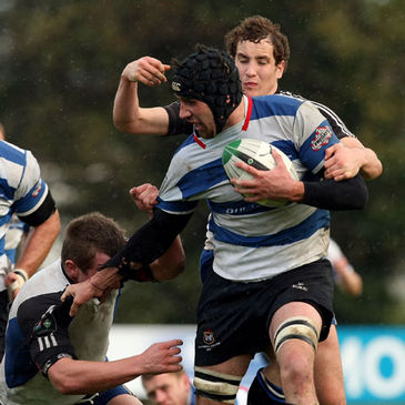 Blackrock back rower Alex Dunlop in action against Cork Con