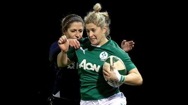 Alison Miller in action for Ireland
