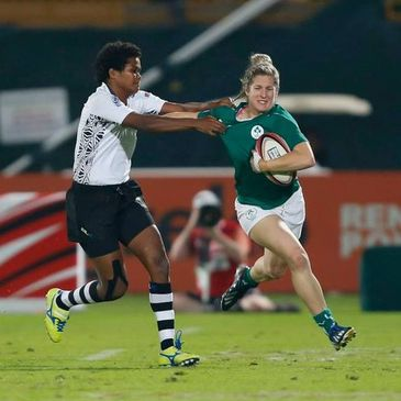 Alison Miller in action against Fiji