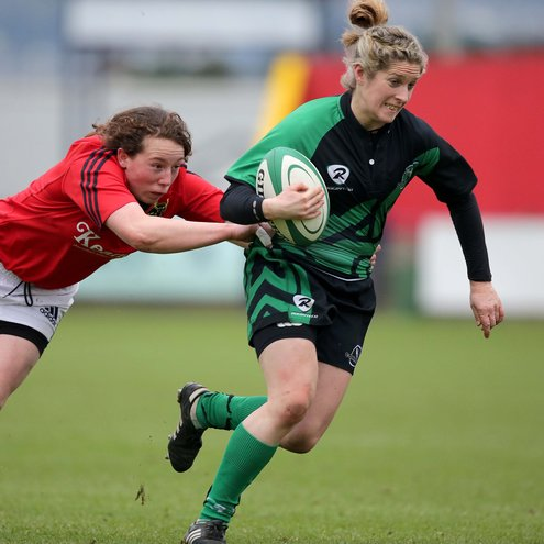 Connacht captain Alison Miller in action against Munster