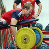 Welsh lock Alun Wyn Jones grimaces as he lifts some heavy weights ahead of his fifth Test appearance for the Lions