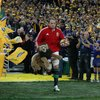 Second row Alun Wyn Jones led the British and Irish Lions out for the series decider at ANZ Stadium