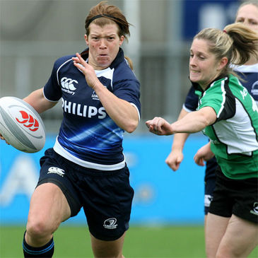 Centre Amy Davis was a try scorer for Leinster