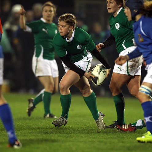 Amy Davis has starred for Ireland at Sevens and fifteen-a-side level