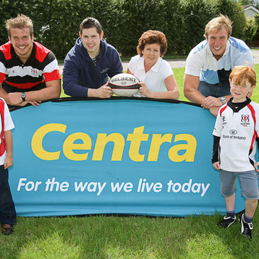 Ulster's Thomas Anderson and Stephen Ferris were at the Lisburn Summer Camp