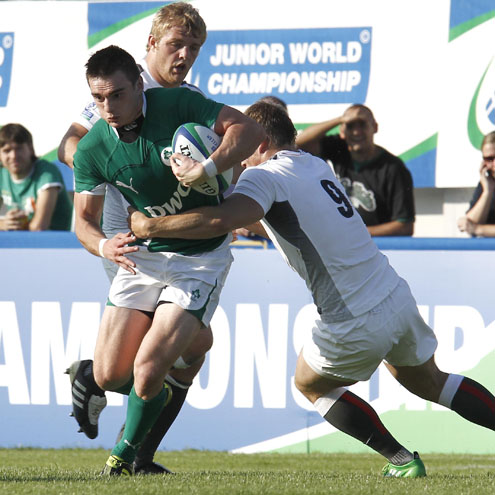 Andrew Boyle in action for the Ireland Under-20s