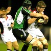 Connacht replacement lock Andrew Browne wraps up Edinburgh's Craig Hamilton in a tackle
