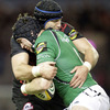 Edinburgh lock Fraser McKenzie wraps up Connacht's Andrew Browne, who impressed in the province's recent win over Samoa
