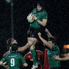 Flanker Andrew Browne is well supported as he gathers a lineout ball for Eric Elwood's men
