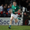 Full-back Andrew Conway breaks through to score the Ireland Under-20s' opening try at Kingsholm