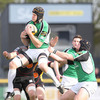 Connacht lock Andrew Farley secures possession for the province in the battle of the league's bottom two sides