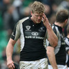 Ireland 'A' lock Andrew Farley looks dejected as he reflects on what might have been for Connacht