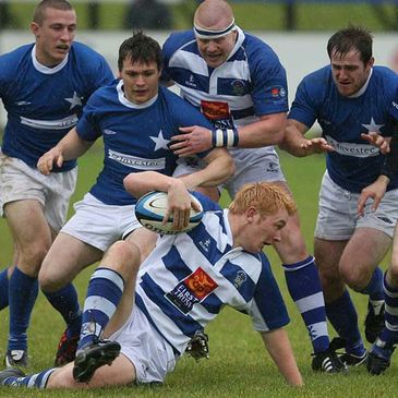 Dungannon's Andrew Gardner is chased down by St. Mary's