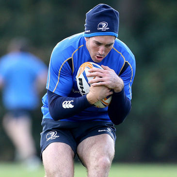 Andrew Goodman training with the Leinster squad
