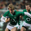 Andrew Trimble has Gordon D'Arcy in support as he spearheads an Irish attack during Saturday's Test