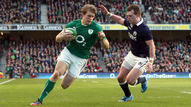 Andrew Trimble breaks through for the first try