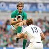 Trailing 16-8 at half-time, Ireland made a composed start to the second period with Andrew Trimble collecting a high ball