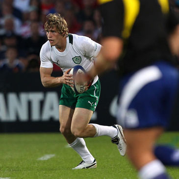 Andrew Trimble carries the ball forward in Bordeaux