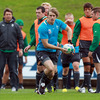 Andrew Trimble and the squad have been training hard on the pitch and in the gym. IRFU head of fitness Philip Morrow is not nicknamed 'Butcher' for nothing!