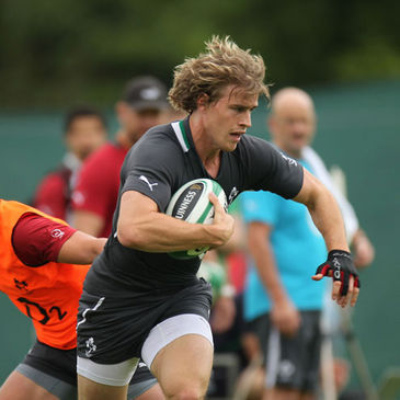 Andrew Trimble training with the Ireland squad