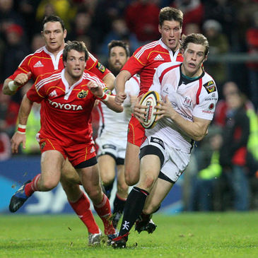 Andrew Trimble makes a break for Ulster