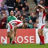 Try-scoring winger Andrew Trimble and out-half Niall O'Connor look dejected after Ulster conceded another try