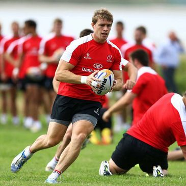 Andrew Trimble training with the Ulster squad