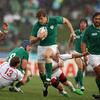 Andrew Trimble shows a clean pair of heels to the Russian defence during the early stages of Ireland's bonus point victory