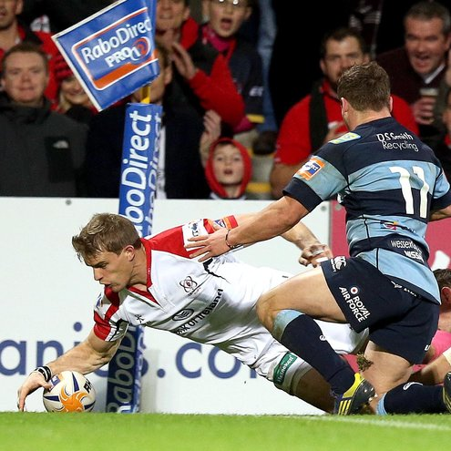 Andrew Trimble was one of the try scorers against Cardiff