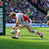 Andrew Trimble took an inside pass from Ulster captain Rory Best to sprint over for the province's only try