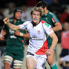 Andrew Trimble celebrates his 11th try in 31 Heineken Cup appearances, after Aironi's determined defence gave way