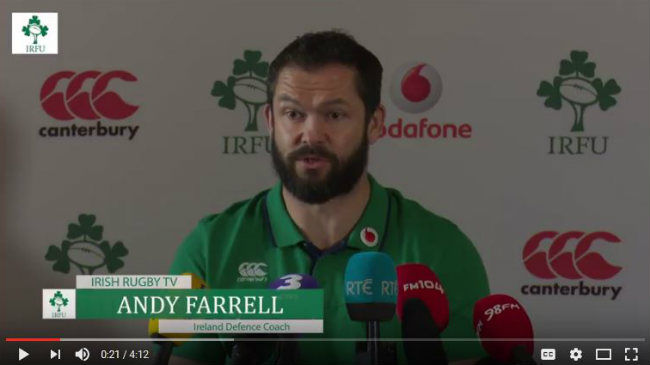 Irish Rugby TV: Andy Farrell On Learning From The Scotland Match