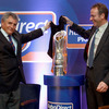 Chairman Andy Irvine and Gert Bouwman, Global Head of Rabobank International Direct Banking, jointly unveiled the new trophy for the RaboDirect PRO12
