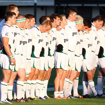 The Ireland U-20s line up for 'Ireland's Call'
