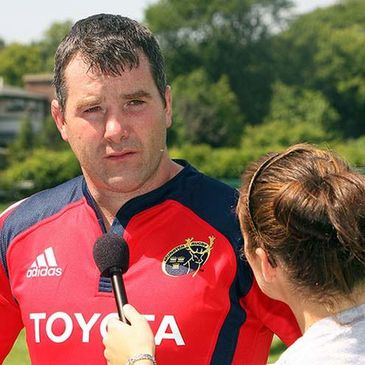 Munster's Anthony Foley being interviewed
